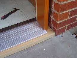 Exterior Slab Door Replacement by Creative How To Replace A Metal Threshold On An Exterior Door