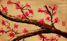 japanese art cherry blossom wallpaper