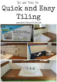 Installing Tile Backsplash The Easiest Way To Tile A Backsplash Domestic Imperfection