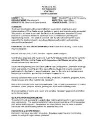 special events coordinator cover letter cover letter fundraising