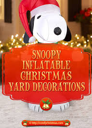 snoopy inflatable christmas yard decorations fun holiday decor