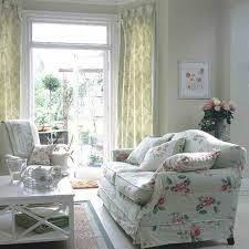 french country curtains with slipcovered sofa and arm chair and
