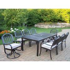 6 Chair Patio Dining Set 8 9 Person Patio Dining Furniture Patio Furniture The Home Depot