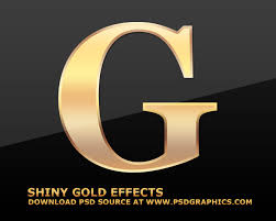 Cool Letter Format Gold Text Effects In Photoshop Psdgraphics