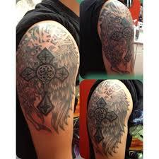 solid wings tattoo 2 wings forearm tattoo on tattoochief com