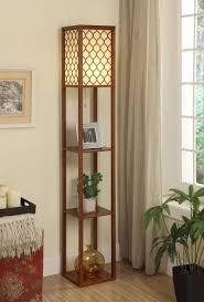 monaco espresso 3 shelf etagere torchiere floor lamps with shelves