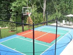 Backyard Basketball Court Basketball Courts Sport Court Of Massachusetts