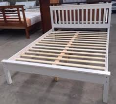 Bed Frame Australia Brand New Rubber Wood White Bed Frame Beds