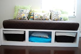 Daybed With Storage Drawers Diy Daybed With Storage Wood Full Size