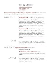 Job Resume Samples Download by 7 Simple Resume Templates Free Download Best Professional Resume