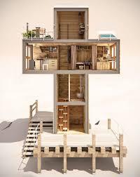 miniature homes iconographic miniature homes cross shaped micro home