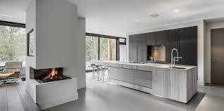 Kitchens Interiors Bright White Kitchen Dark Windows Contemporary Lines Modern