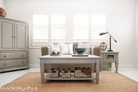 chalk paint coffee table gray chalk paint coffee and side table maison de pax