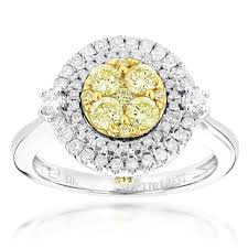 unique engagement rings for women unique engagement rings 14k gold white yellow diamond ring for