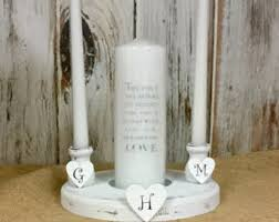 Shabby Chic Candle Sconces Unity Candle Holder Etsy