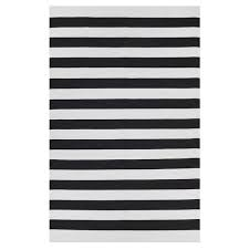 the olin black striped cotton dhurrie rug crate and barrel within