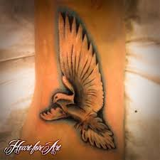 dove bird on the clients tattoos