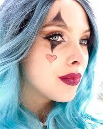 How To Do Clown Makeup For Halloween Halloween Makeup Tutorial Glamorous Clown With Blue Hair