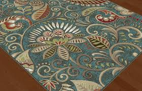 Paisley Area Rugs Blue Transitional Paisley Floral Area Rug Multi Color Leaf Vines
