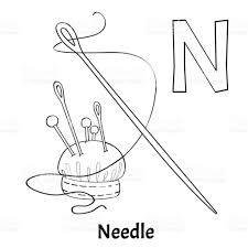 finger needle coloring page coloring coloring page