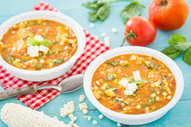 summer vegetable soup plant based vegan recipe