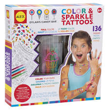 amazon com alex toys dylan u0027s candy bar color u0026 sparkle tattoos