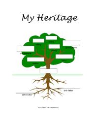 editable 5 generation family tree template