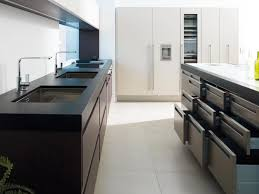 Kitchen Modern Kitchen Cabinet Sets For Small Rooms Black Wooden - Black laminate kitchen cabinets