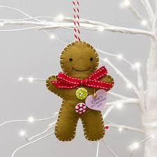 Personalised Polar Bear Christmas Decoration by Personalised Gingerbread Man Decoration By Miss Shelly Designs