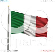 Flag Of Itali Royalty Free Rf Clipart Illustration Of The Flag Of Italy Waving