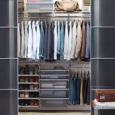 Container Store Shelves by Platinum Elfa Reach In Closet The Container Store