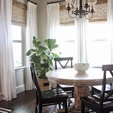 Dining Room Window Farmhouse Window Treatments Mforum