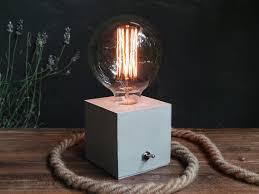 Desk Lamp Light Bulbs Concrete Lamp Concrete Table Lamp Concrete Desk Lamp