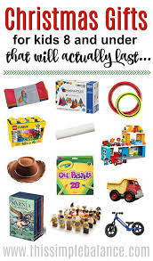 timeless christmas gifts for kids under 8 years old this simple