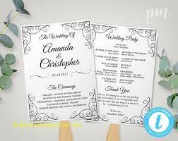 beautiful wedding program fan template free free