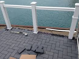 Composite Patio Pavers by Outdoor Living Low Sloped Roof Decks Composite Pavers And Cable