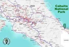 Map Costa Rica Cahuita National Park Costa Rica