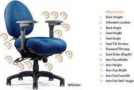 Ergonomic Task Chair Neutral Posture 5000 Series Office Ergonomic Task Chair