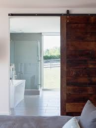Modern Bathroom Door Doors Modern Laundry Room With Sliding Barn Door Made From