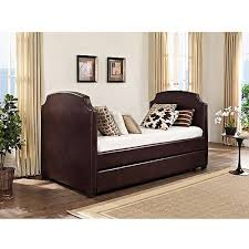 Leather Daybed With Trundle Daybeds With Trundles Inspired Daybeds With Trundle In Kids