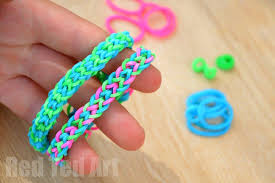 looms bracelet easy images Rainbow looms inverted fishtail using your fingers red ted jpg