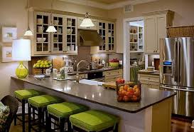 beautiful country kitchen decorating ideas with green chairs