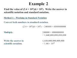 working with scientific notation applications of scientific notation ppt