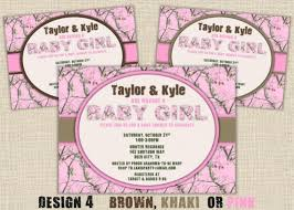 camo baby shower invitations pink camo baby shower invitations wblqual