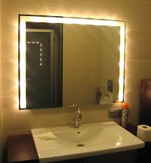 mirrors with led lights bathroom led mirror illuminated and 1