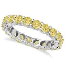 canary yellow engagement ring fancy canary yellow eternity ring band 18k white gold 3 00ct