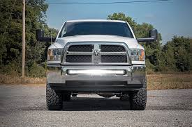 custom front bumpers for dodge trucks 40in dual single row curved led light bar bumper mounting