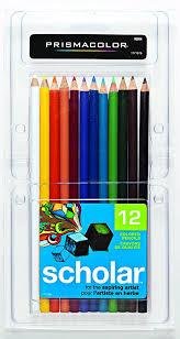 prisma color pencils prismacolor 92804 scholar colored pencils 12 count