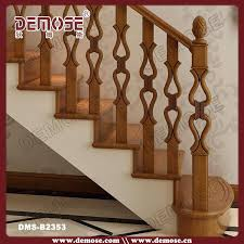 Stairway Banister Wooden Railing Designs For Duplex Home Decorative Wood Deck