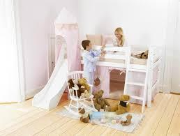 chambre enfant toboggan lit surélevé enfant exploiter la hauteur pour gagner de la place